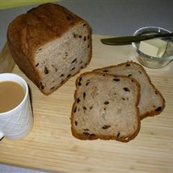Really great Cinnamon raisen bread from the bread machine.  Just made it.  Yum
