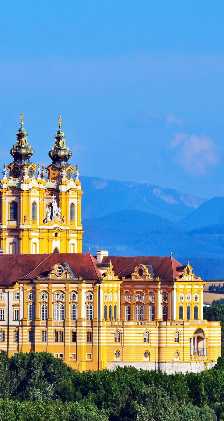 """Stift Melk"" monastry ""Melk"" Wachau, Austria   Amazing Photography Of Cities and Famous Landmarks From Around The World"