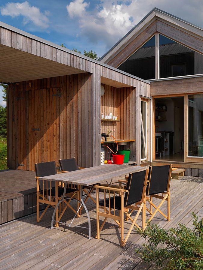 #Architecture #Design #Interior #interiordesign #wood #Cabin #Summer #Sweden #Grebbestad  #Scandinavia #landscape #Outdoor #HaraldLode