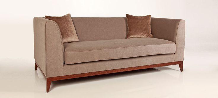 Epsom Sofa in Romo Linara - Bison