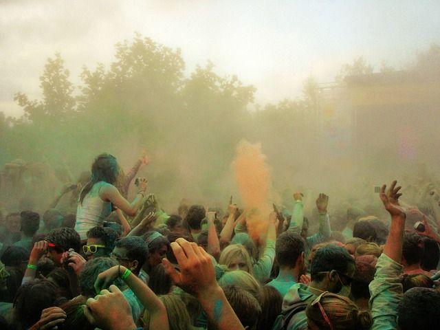 Farbrausch, ホーリーの固体の色, Farbpulver, 色パーティー, 色, カラフル