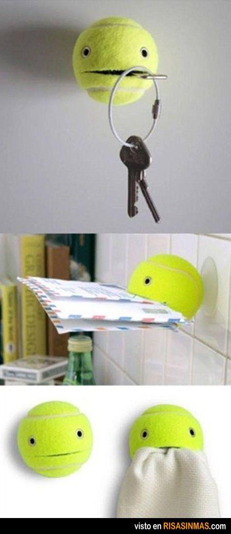 Otros usos de una pelota de tenis.