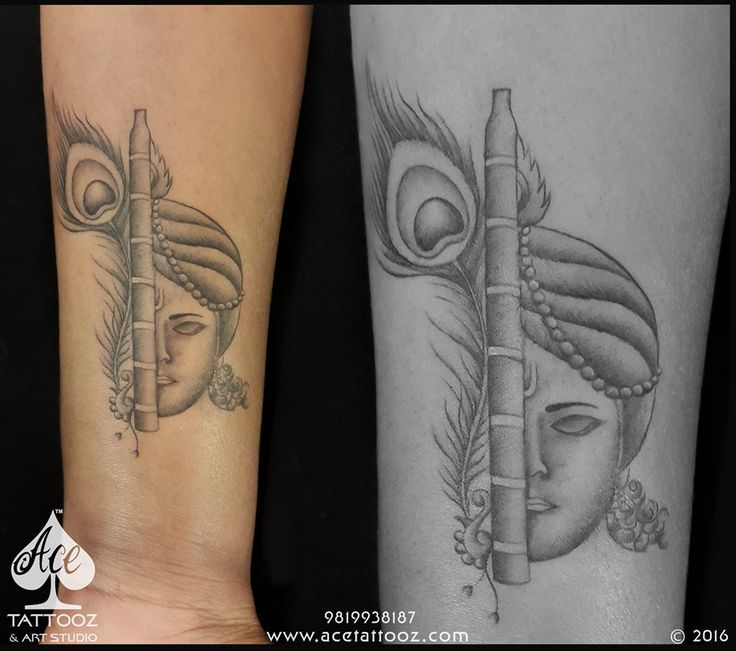 This Client being a true follower of lord #Krishna initially wanted to get something related to this #almighty. Basically with the idea of wanting a #Flute or a #Peacockfeather our artist #adityapanchu wanted to design something nice and different for her. The client loved the concept of a flute with half face of Krishna and the other half being a peacockfeather behind it! #godtattoo #krishnatattoo #tattooforgirls #lordkrishna #acetattooz #ghatkopar #colaba #mumbai #tattoostudio…