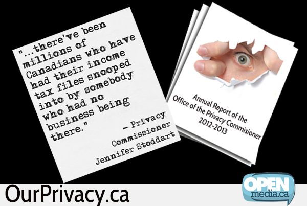 The Privacy Commissioner released her annual report yesterday with a scathing review of the government's failure to protect the private, sensitive information of millions of Canadians. Learn more at: http://ow.ly/qlbDh
