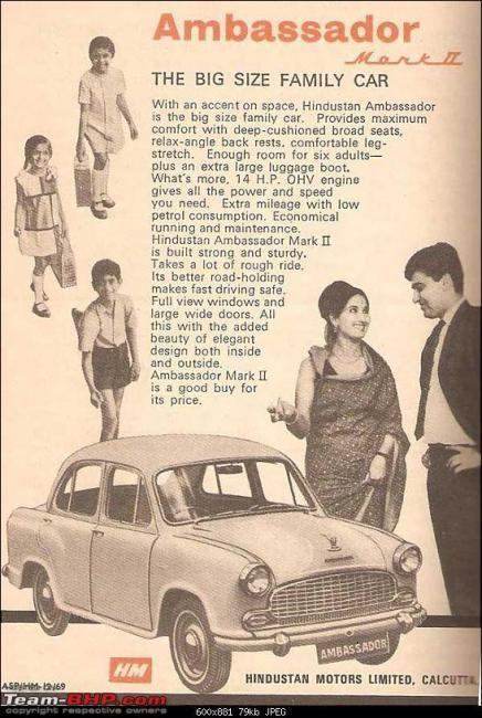 An old Ambassador Ad