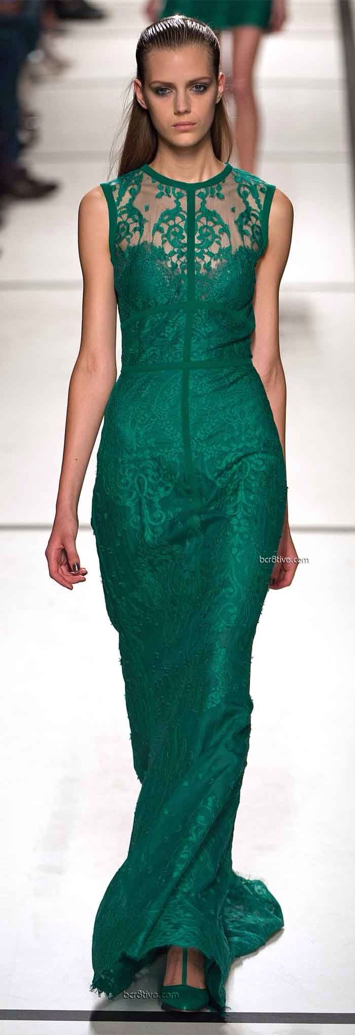 Ellie Saab 2014 Emerald Gown. How gorgeous would this be for your maid of honour at a black tie wedding. For more ideas, visit http://www.styleandthebride.co.uk