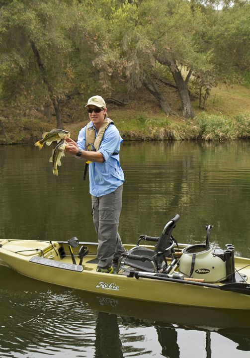 Hobie's new and totally awesome fishing kayak - the Pro Angler 12