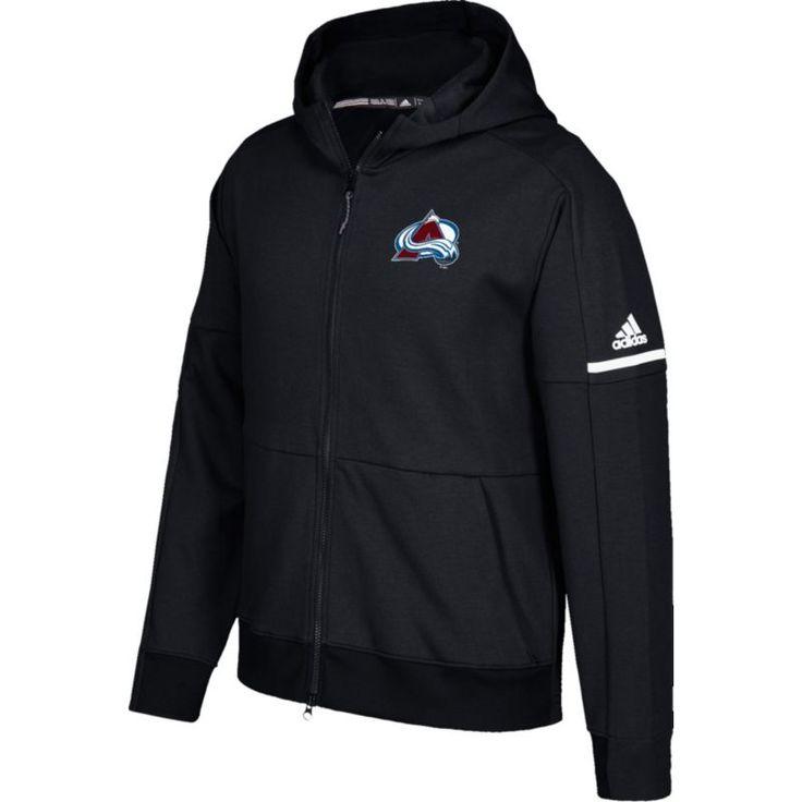 adidas Men's Colorado Avalanche Authentic Pro Squad ID Black Full-Zip Hoodie, Size: Medium, Team