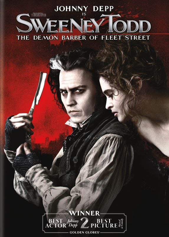 Sweeney Todd The Demon Barber Of Fleet Street Dvd 2007 Best Buy Sweeney Todd Tim Burton Movie Musical Movies
