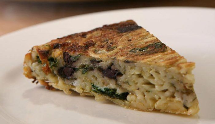 Frittata with Spaghetti with Egg and Olives - Good Chef ...
