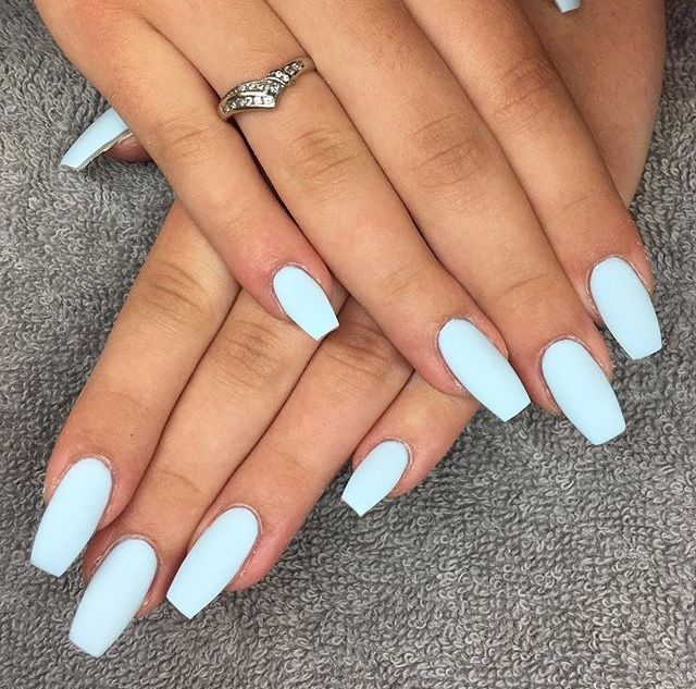 Nails Blue Summer