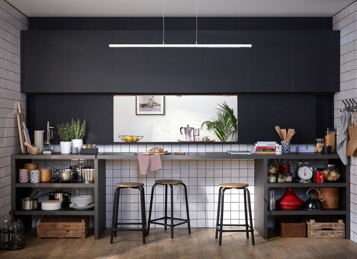 129 best cuisine images on Pinterest Kitchen ideas, Kitchens and - cuisine avec passe plat