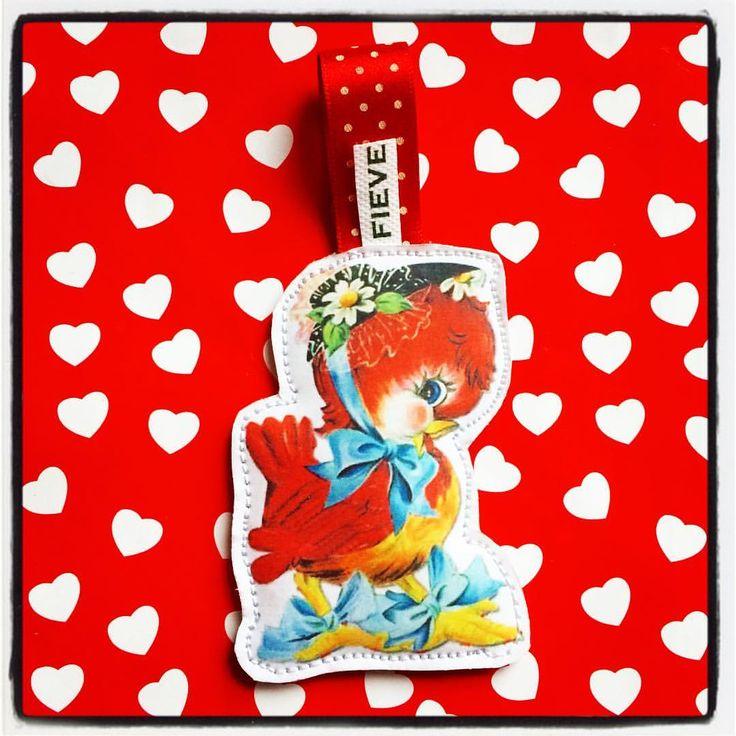 #zelfgemaakte #label #hanger #vintageplaatjes #fieve #valentijnsdag
