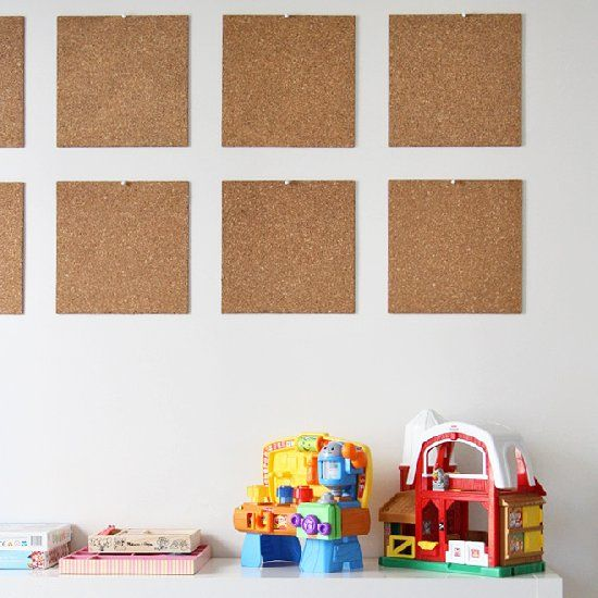 Hang up your child's art (and keep your fridge clean!) with these fun corkboard titles.