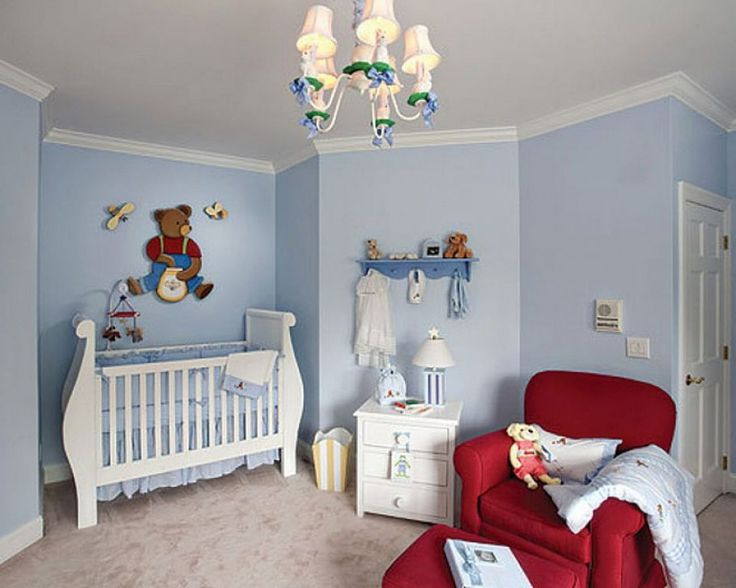 Baby Nursery Astounding Baby Blue Room Decoration With Gorgeous Red Armed Chair Plus Glory Small