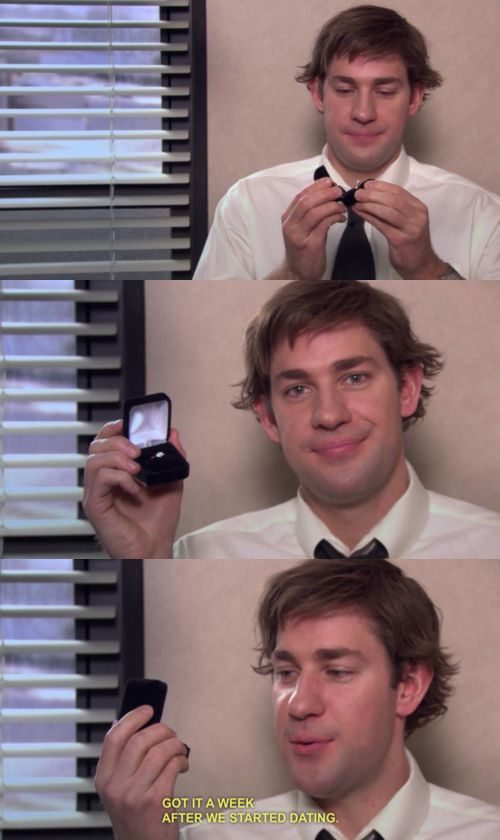Jim and Pam...I'm not crying you're crying.