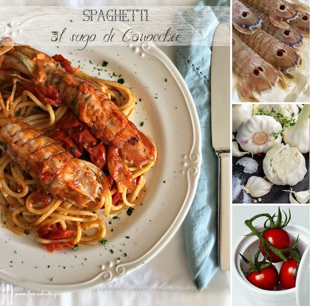 Briciole di Sapori: Spaghetti al sugo di canocchie (o cicale)