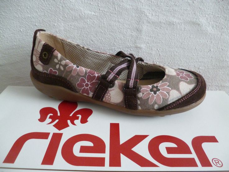 Rieker Girl Ballerina Slippers Brown/Pink Soft Leather Insole