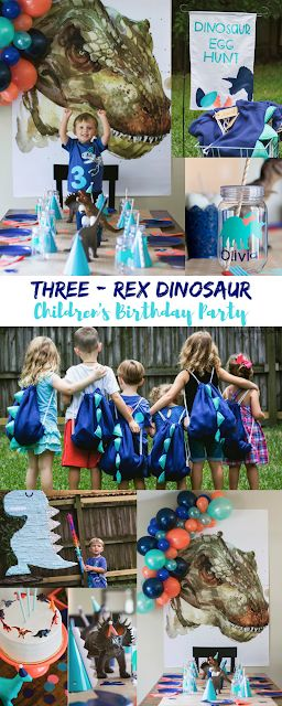 Jacob is a Three-Rex {Dinosaur Birthday Party}