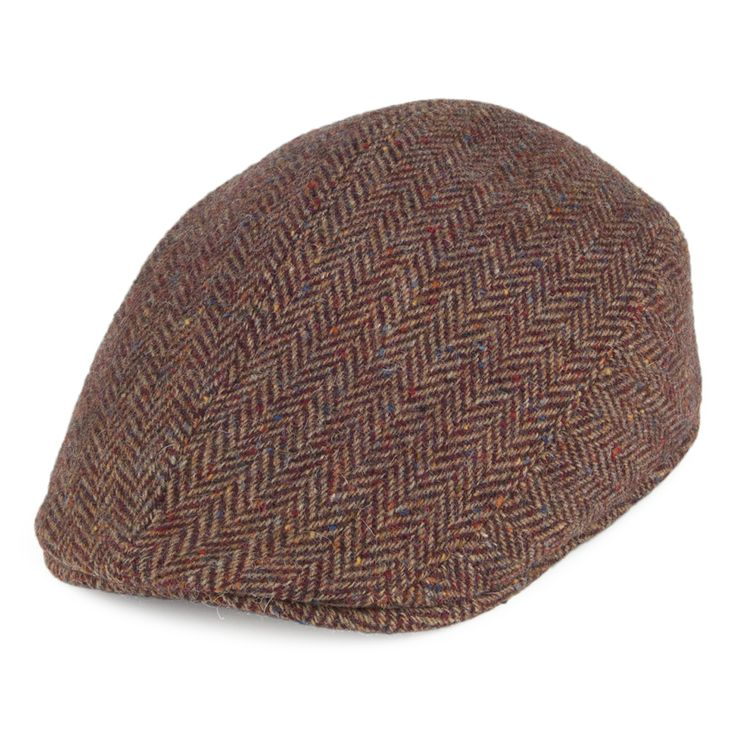 Crambes Hats Tweed Ascot Hat - Brown-Burgundy from Village Hats.