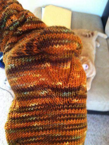 how to turn a heel on top down socks