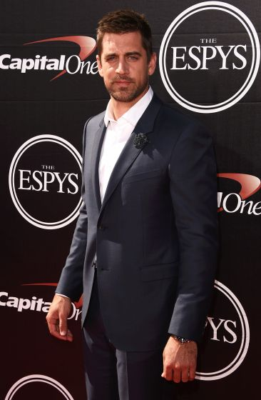 Aaron Rodgers attends the 2015 ESPY Awards.
