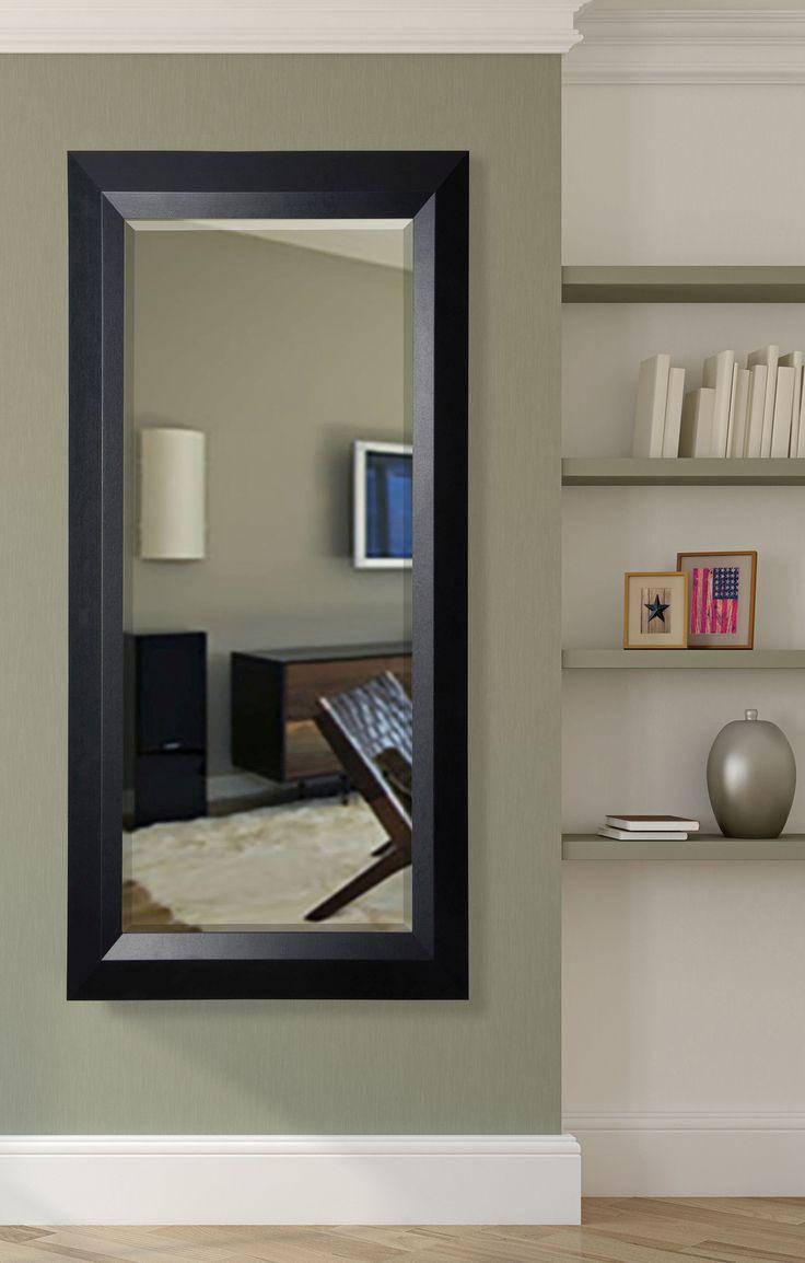 Jovie Jane Black Angle Full Length Beveled Body Mirror