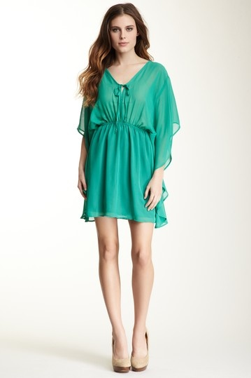 Batwing dress in this year's hottest color! {Veronica M}