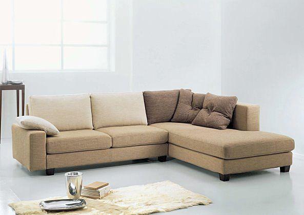 Brown elegant corner sofa bed