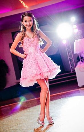 Pretty short Bat Mitzvah dress from Jovani. Bat Mitzvah dresses | Big Fashion Show bat mitzvah dresses