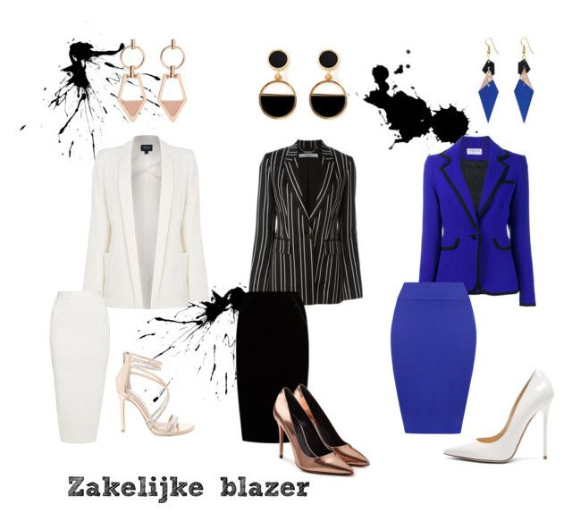 Zakelijke blazer by larissavanderzijdenxo on Polyvore featuring mode, Armani Jeans, Osman, Givenchy, WearAll, Jupe By Jackie, Rick Owens, Alexander Wang, Jimmy Choo and Steve Madden