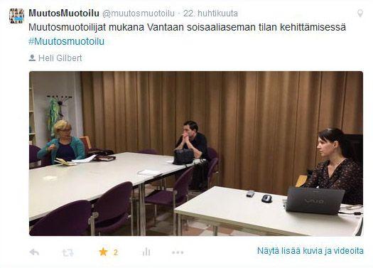 Kansainvälisen tiimin vetäjä ja projektipäällikkö/ Muotoilutyö: Vantaan aikuissosiaalityo - Tikkurilan aikuissosiaaliaseman käyttäjäystävällistäminen