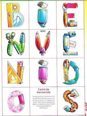 17 mejores ideas sobre carteles de bienvenida en pinterest for Cancion de bienvenida al jardin