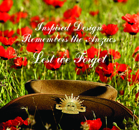 Inspired Design will be open from 1pm to 4.30pm on ANZAC Day
