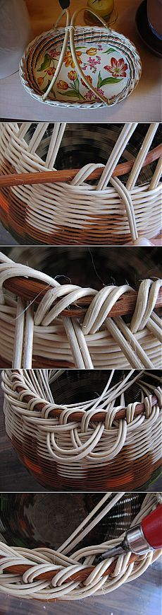 Directions for a wonderful woven edge with a branch brim.