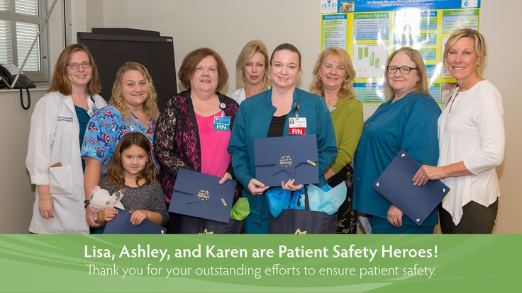 Congratulations to Lisa, Ashley, and Karen, recipients of our Patient Safety Hero Award!  Patient safety is a top priority at Frederick Memorial Hospital, and Lisa, Ashley, and Karen's concern for their patients and consistent efforts to assure patient safety, demonstrate their commitment to patient safety at Frederick Memorial Hospital. Thank you for all that you do to improve the lives of our patients, their families, and our Frederick Memorial Hospital Team!
