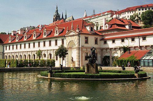 Wallemstein Palace garden in Prague, Czechia