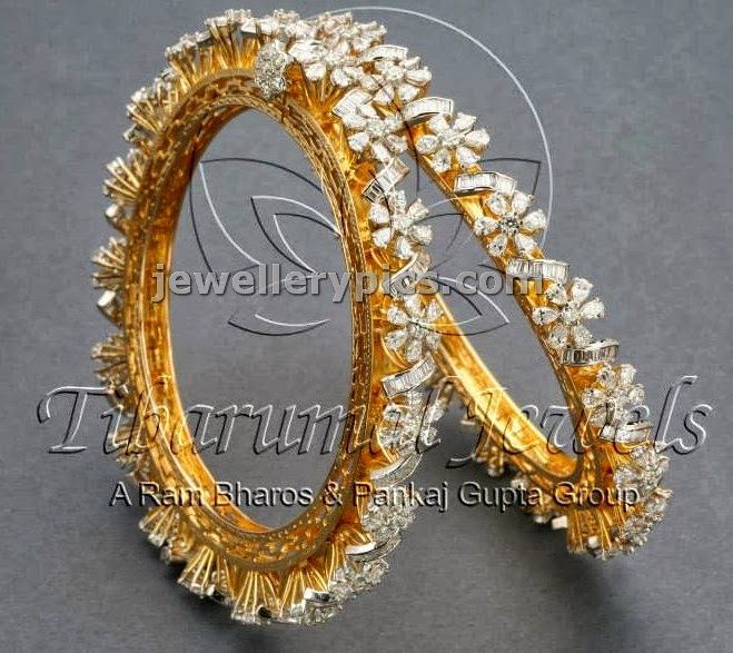 4 Diamond Bangle designs at Tibarumal jewellers - Latest Jewellery Designs