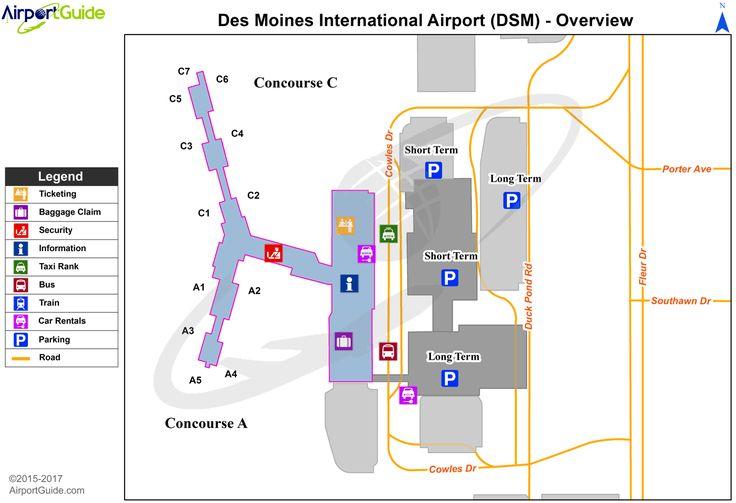 Des moines des moines international dsm airport