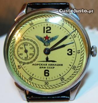 Relógio militar russo MOLNIYA (aviação naval) raro: