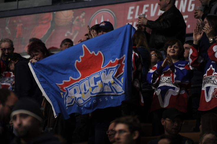 Fans waving our Toronto Rock flag proudly