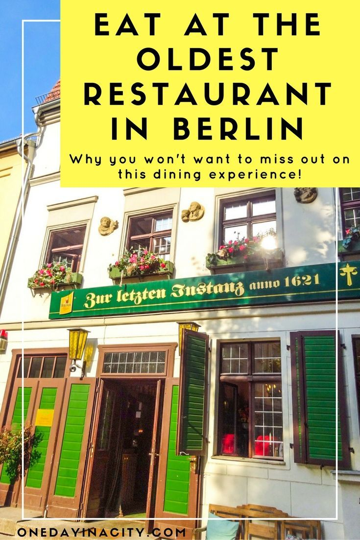 You'll find delicious traditional German cuisine and a charming atmosphere at Zur Letzten Instanz, the oldest restaurant in Berlin. You also can't miss seeing the marvelous old staircase inside (picture in blog post).