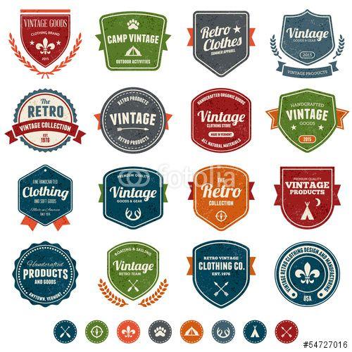 Vecteur : Vintage badges