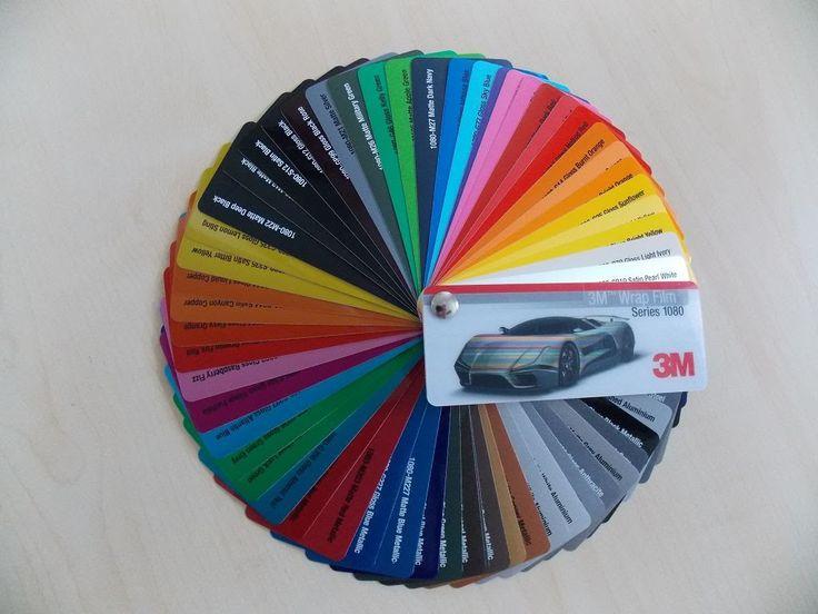 3M Scotchprint Serie 1080 Wrap Film Farbübersicht der aktuellen Car Wrap...
