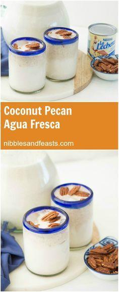 Agua Fresca de Coco y Nuez