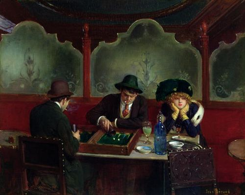 The Backgammon Players ~ Jean Georges Béraud ~ (French: 1849-1935)