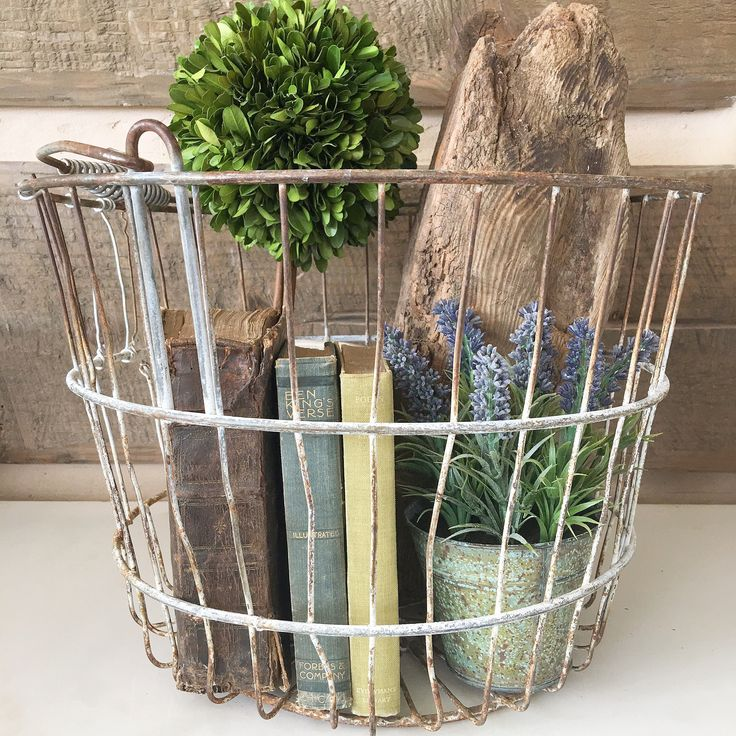 25 best ideas about vintage wire baskets on pinterest - Decorating ideas for baskets ...