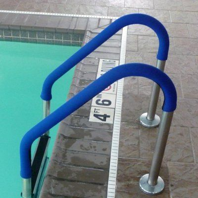 Blue Wave Grip for Pool Handrails – Blue