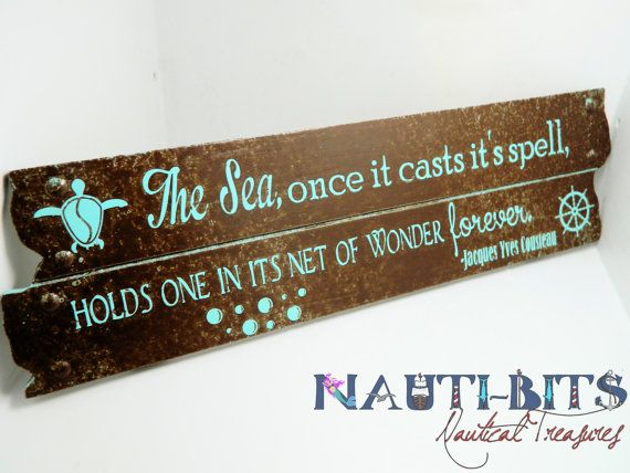....stacey...rose..Beach Decor Quote Wooden Sign  Jacques by NautiBitsTreasures, $24.00