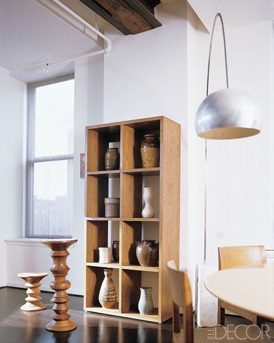In Julianne Moore's Manhattan apartment, pieces from her pottery collection add character and keep with the neutral palette.